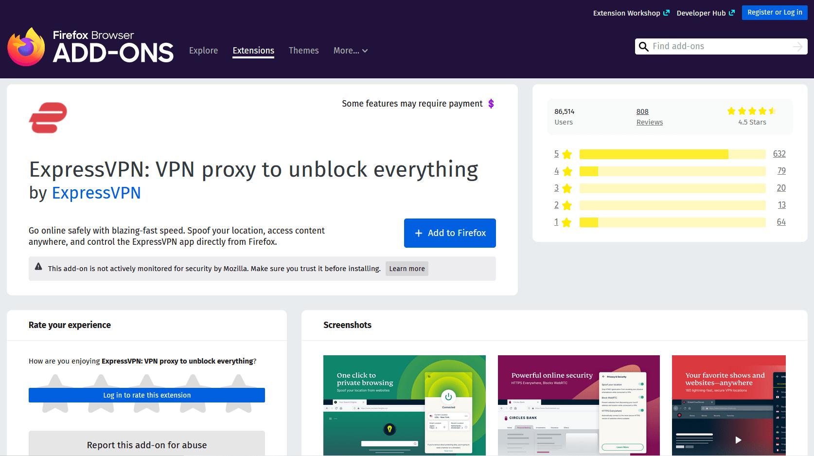 ExpressVPN Firefox Add-on