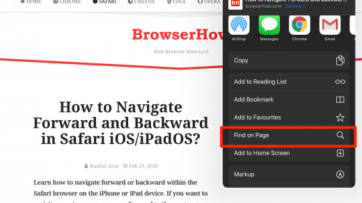 Find on Page in Safari for iPhone and iPad