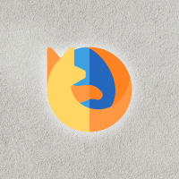 Firefox Logo with Grey Texture