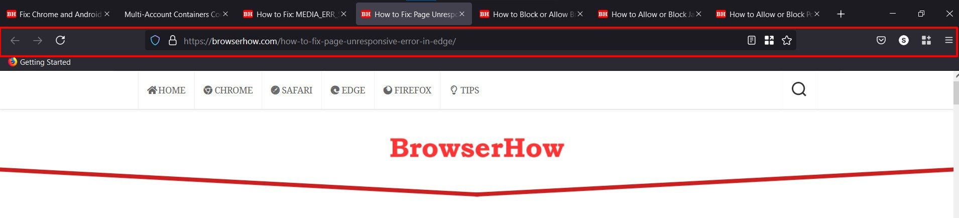 Firefox redesigned address bar and tool bar