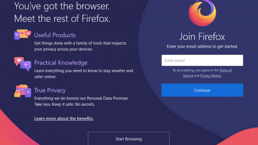 Firefox Browser Welcome Screen