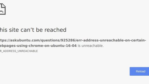 Fix ERR_ADDRESS_UNREACHABLE in Chrome browser