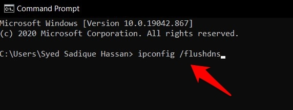 Flush DNS and IPConfig in Windows command prompt