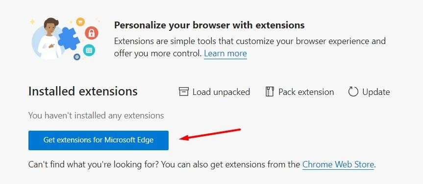 Get extensions for Microsoft Edge