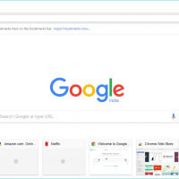 Google Chrome for Windows with google homepage
