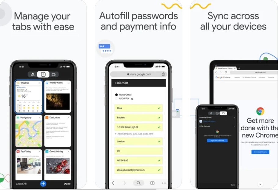 Google Chrome for iPhone and iPad