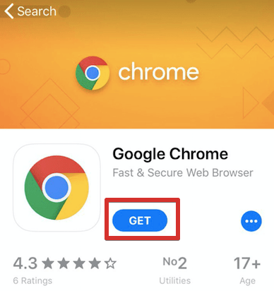 Google Chrome Download for iOS