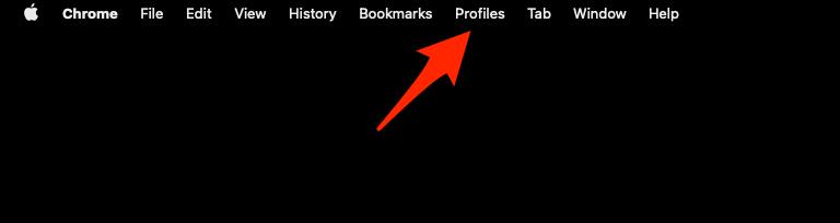 Google Chrome Menubar with Profiles menu