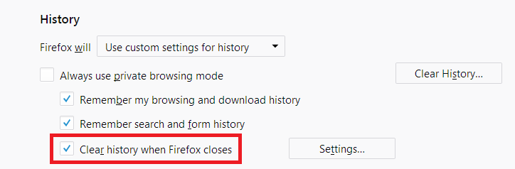 How To Set Firefox To Clear  My History Automatically