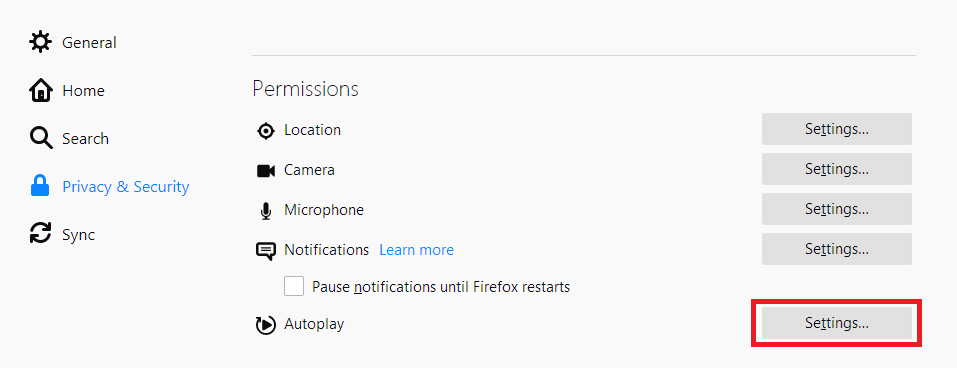 How to Allow or Block Sound Access in Firefox Computer?