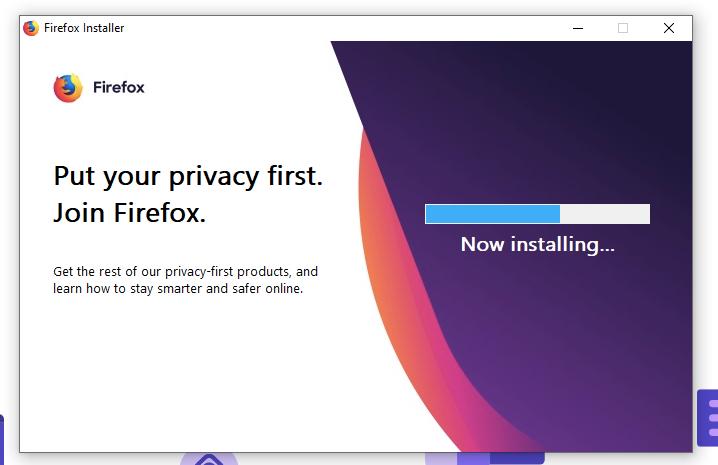 Installing Firefox on Windows OS
