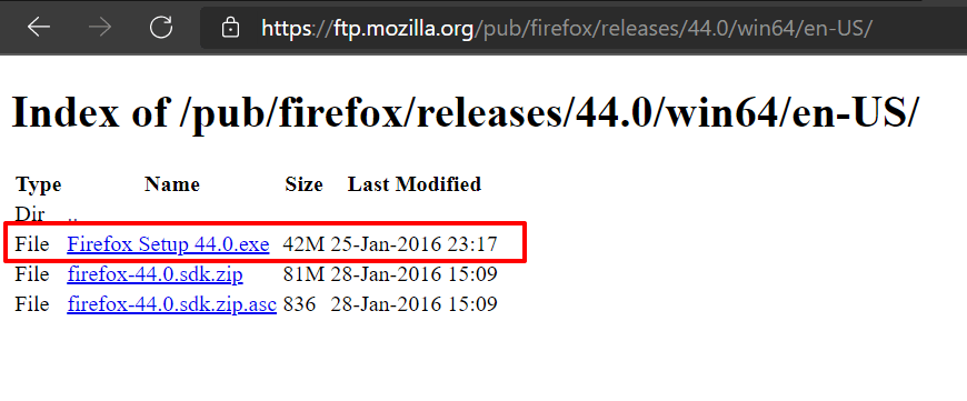 Link to Download Older Version of Firefox browser