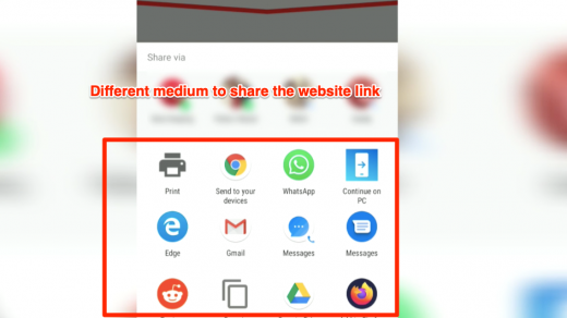 Link Sharing Chrome Android Communication app