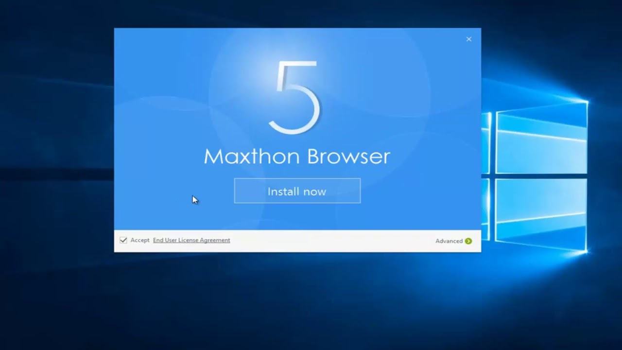 Maxthon 5 browser windows installation