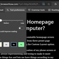 Microsoft Edge Computer Immersive Reader Text Preferences