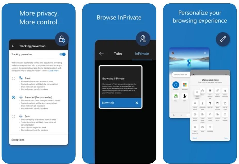 Microsoft Edge for iOS and iPadOS