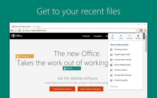Microsoft Office Online Browser Extension