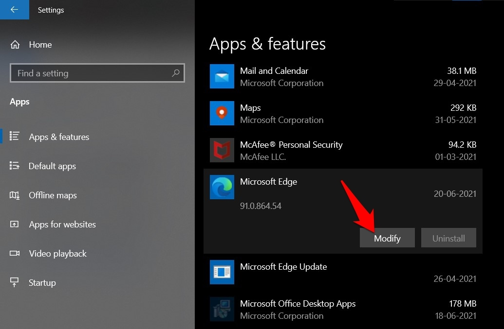 Modify Microsoft Edge browser App and Feature