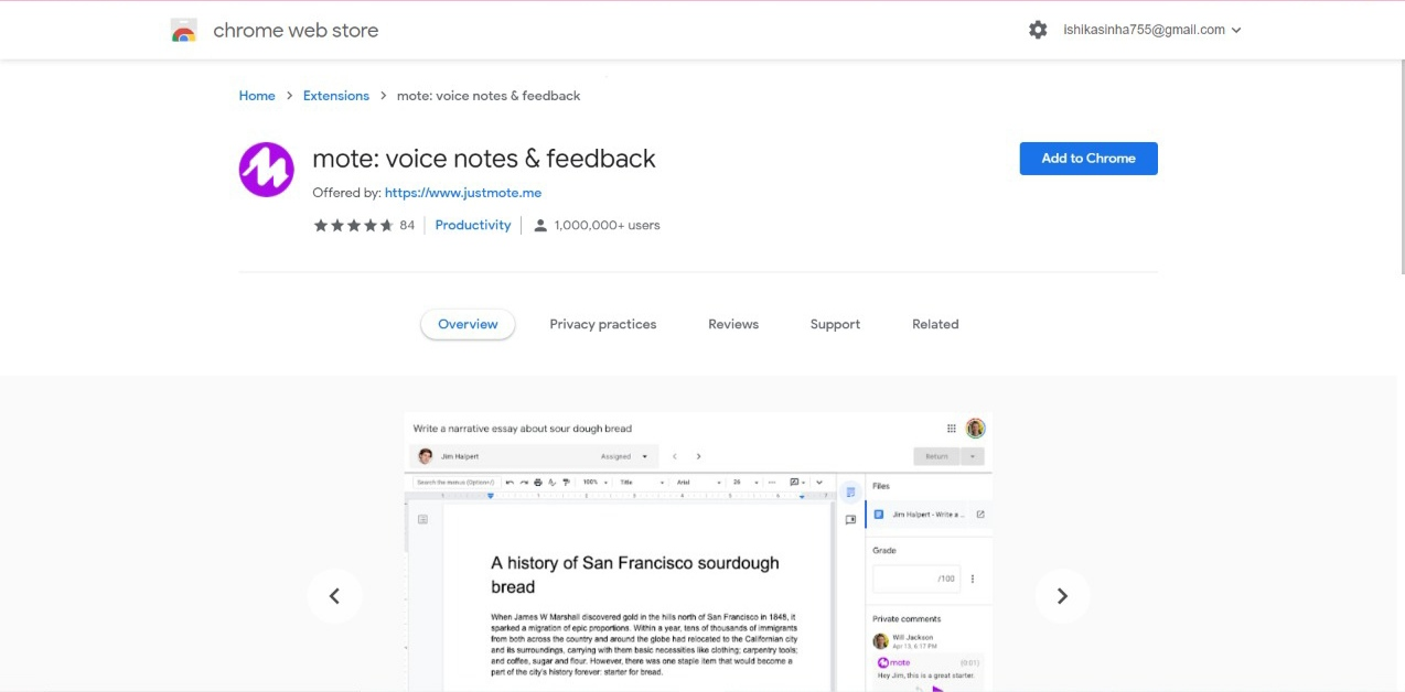 Mote voice note and feedback extension