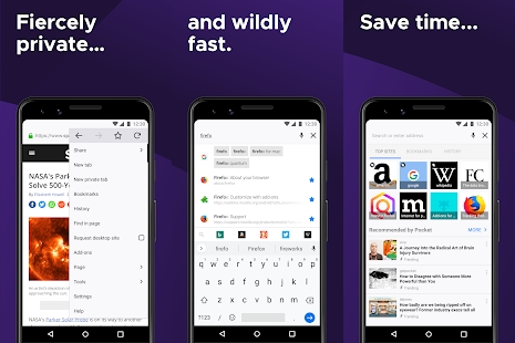 Mozilla Firefox for Android Features