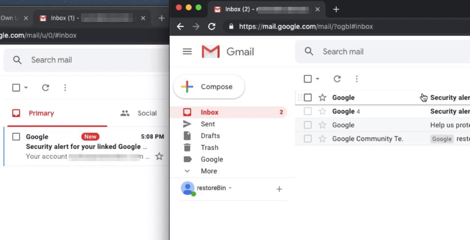 Multiple Gmail Account Login in Chrome