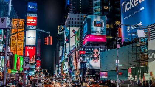 New York time square ads