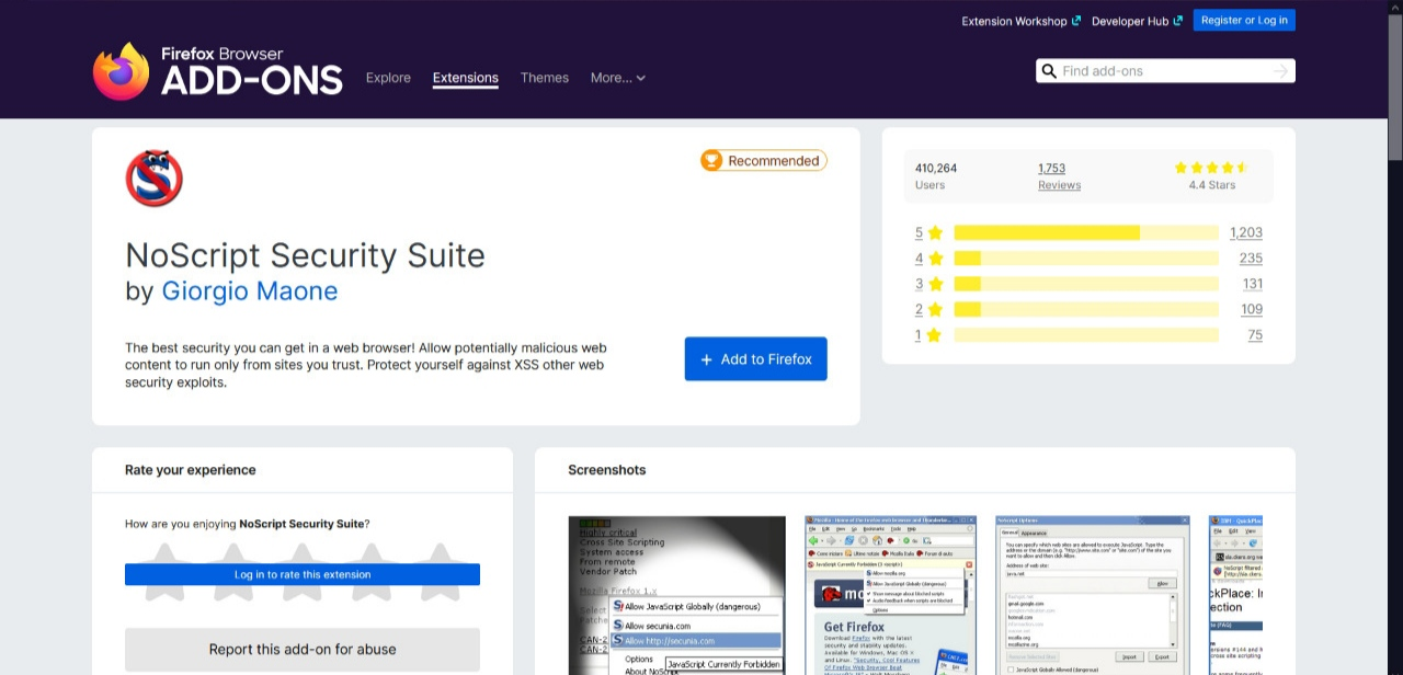 NoScript Security Suite Firefox Add-on