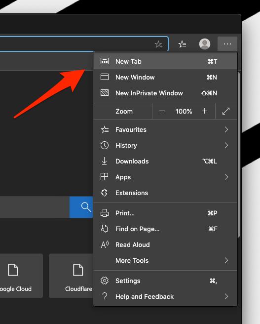 Open New Tab in Microsoft Edge Computer