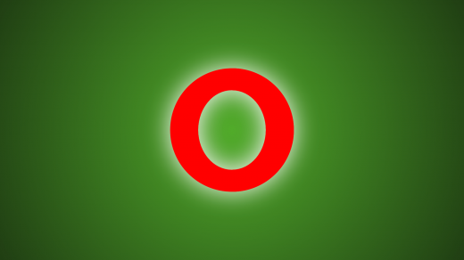 Opera Logo with Green Gradient background