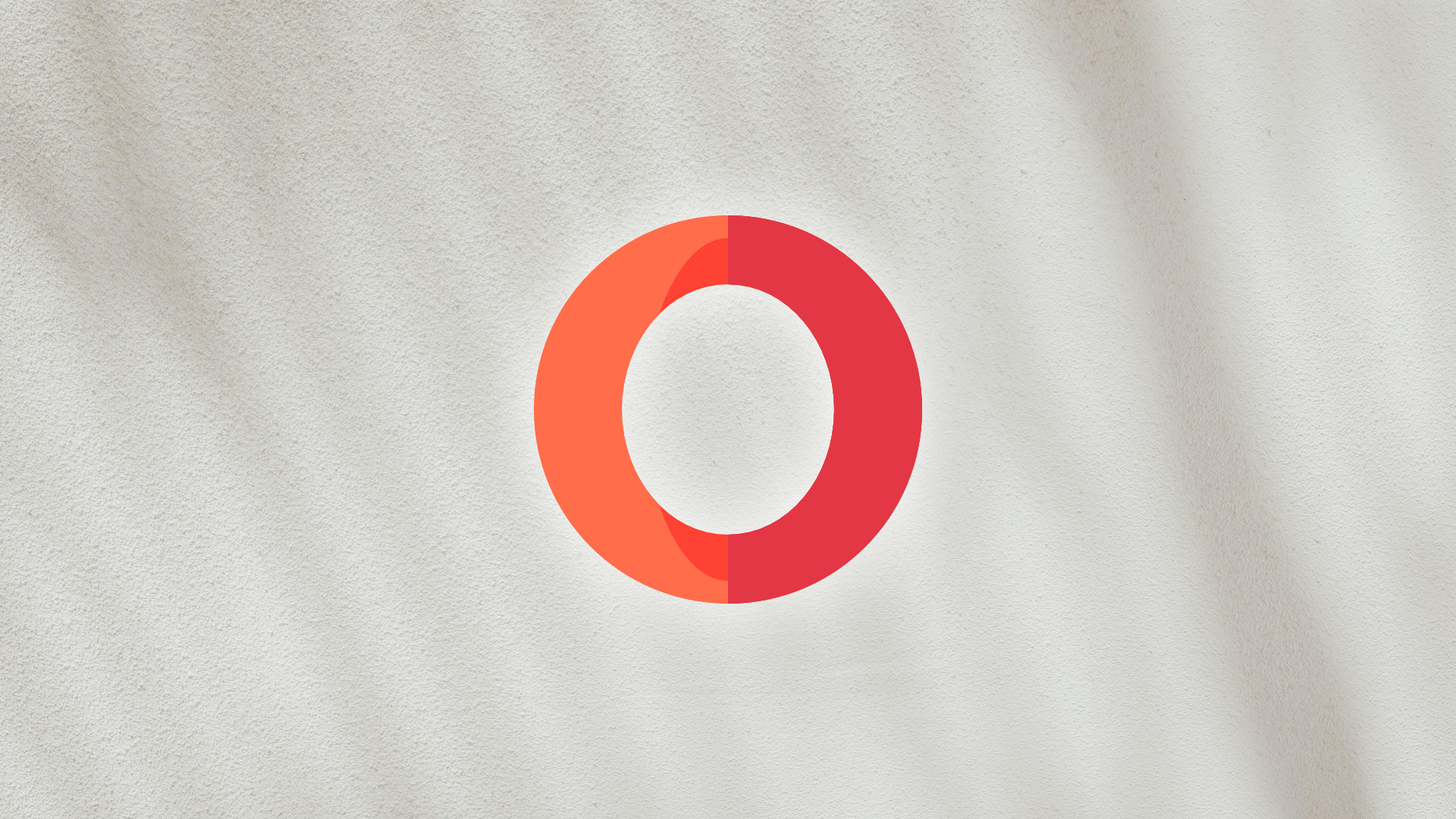Opera Logo with Grey Abstract