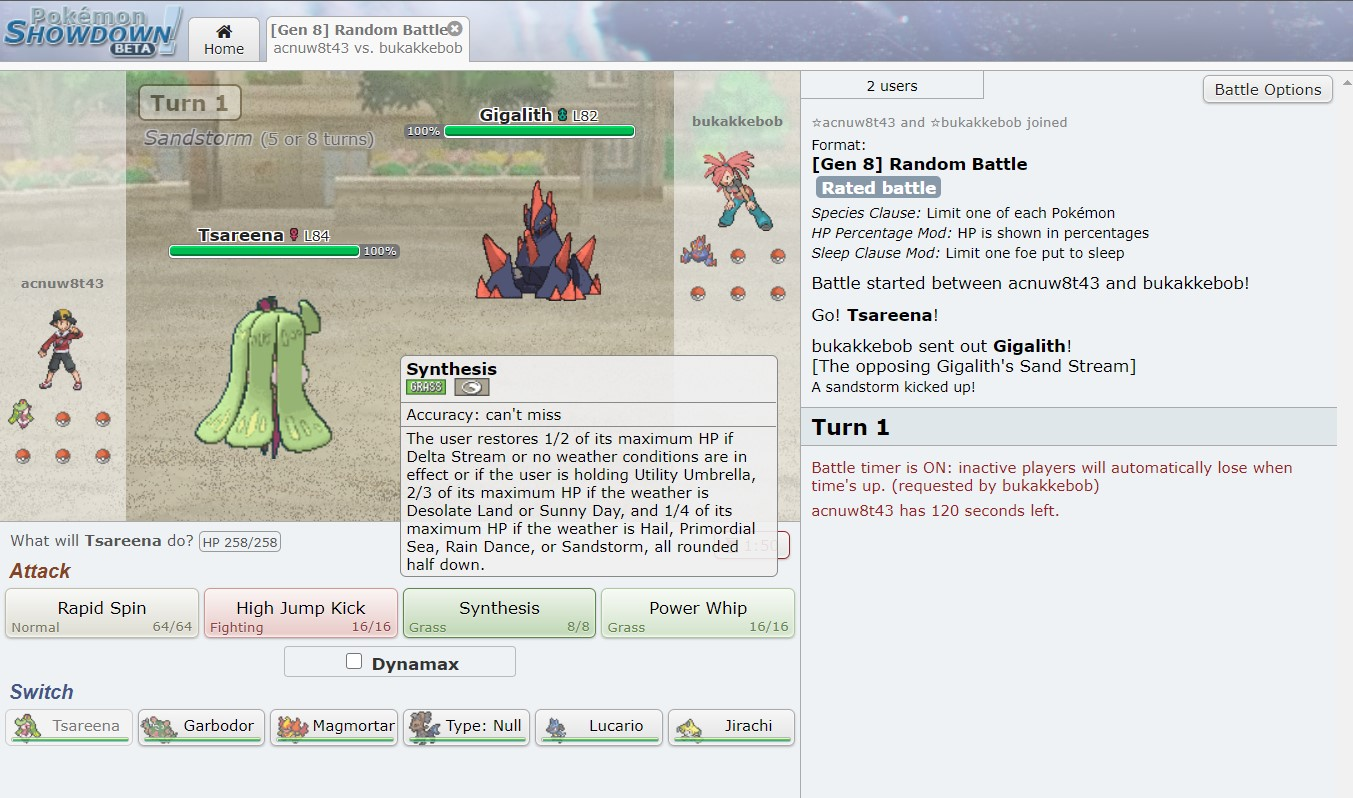 Pokemon Showdown Game on Browser