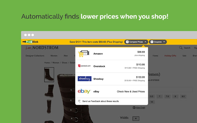 PriceBlink Coupon Chrome Extension