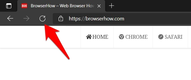 Reload and Refresh button in Edge browser