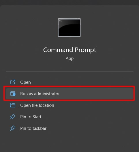 Run Command Prompt as Administrator in Windows PC