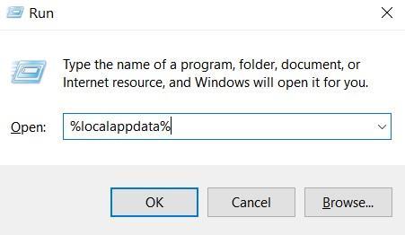 Run LocalAppData in Windows