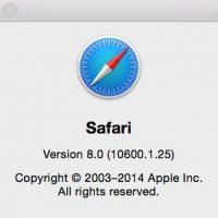 Safari Browser Version on macOS