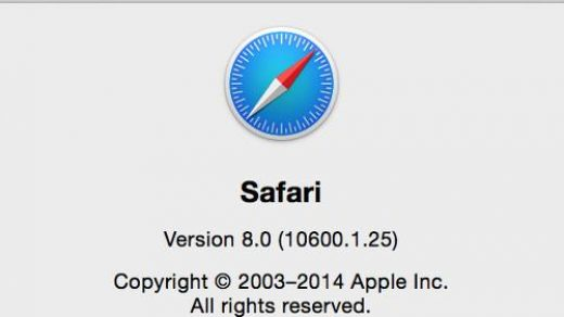 Safari Browser Version on macOS