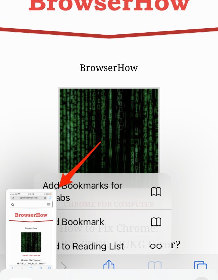 Safari iOS Screenshot taken using iPhone softkeys