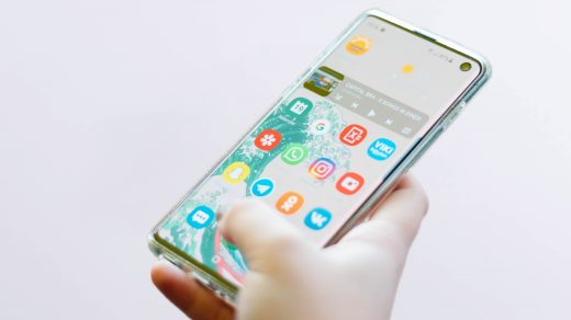 Samsung Galaxy Phone holding in hand