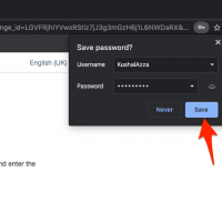 Save password in Chrome Computer