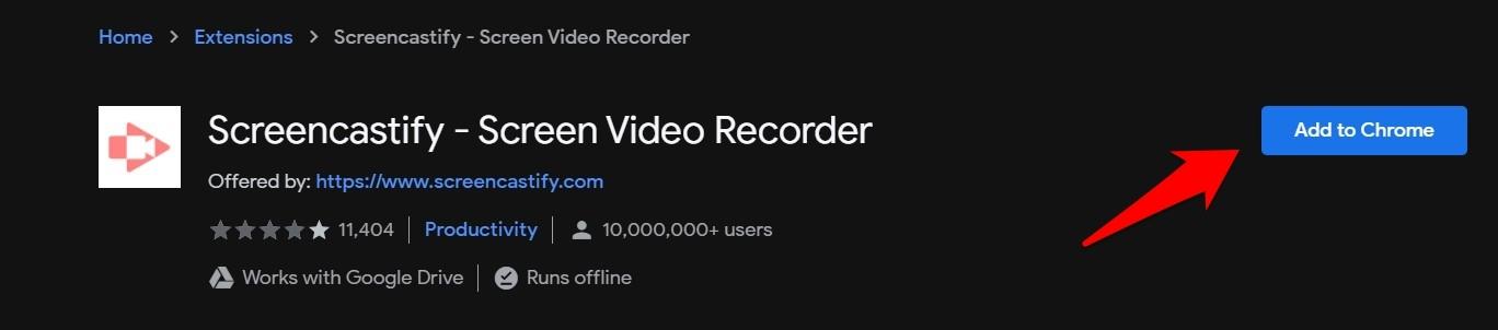 Screencastify Screen Video Recorder Add to Chrome