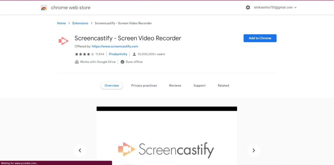 Screencastify Screen record chrome extension