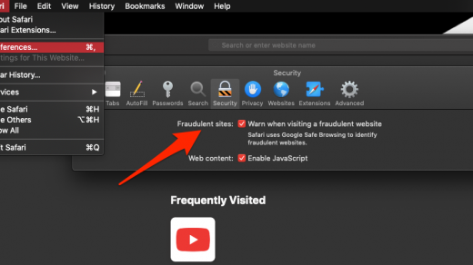 Security Settings for Fraudulent sites in Safari Mac