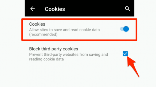 Setting browser cookies in Edge Android
