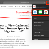 Share Website Link via External App on iPhone or iPad