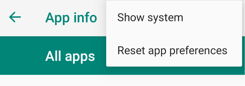 Show System Apps installed on Android