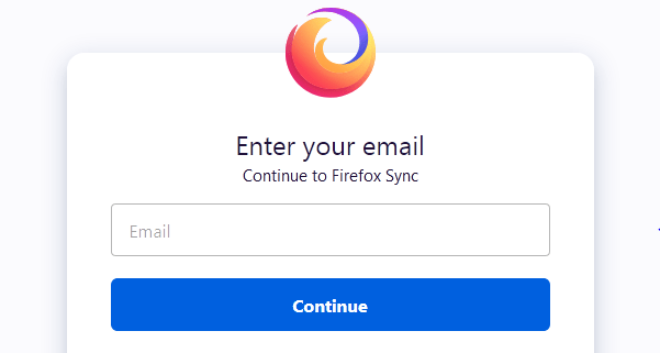Sign in to Firefox Account to Sync