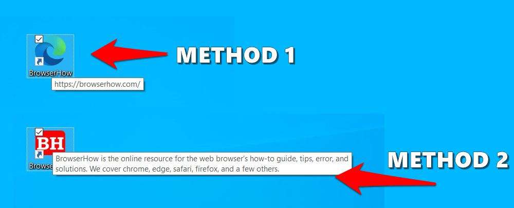 Site Shortcut Links created on Windows desktop