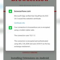 Site Certification Information Microsoft Edge