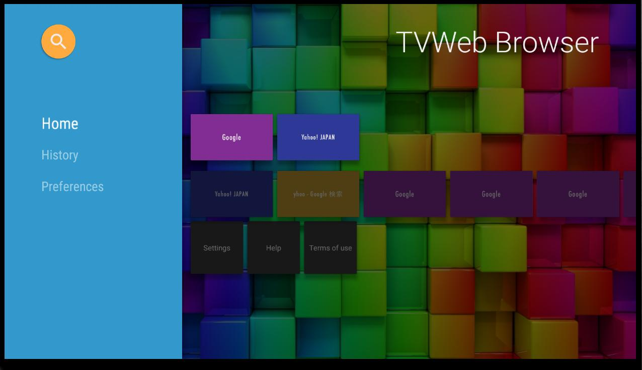 TVWeb Browser on Android TV OS